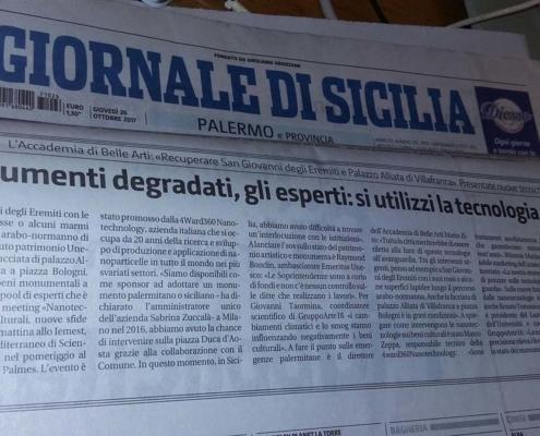 Articolo Giornale di Sicilia 26 ottobre 2017